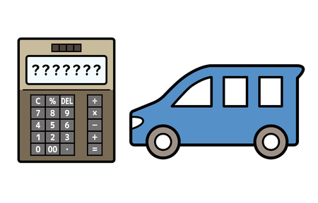 car and electronic calculator