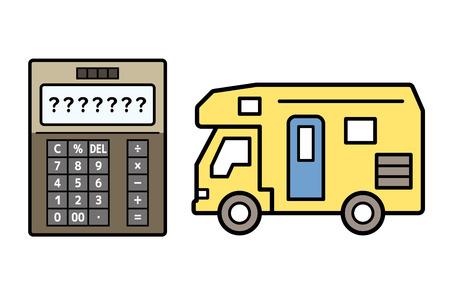 caravan and electronic calculator