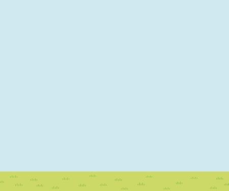 Illustration of prairie scenery - blue sky and grassy plain - rectangle banner version Ilustração
