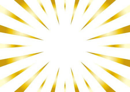 background of radial flash - gold and white - Çizim