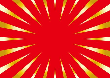 background of radial flash - red and gold -