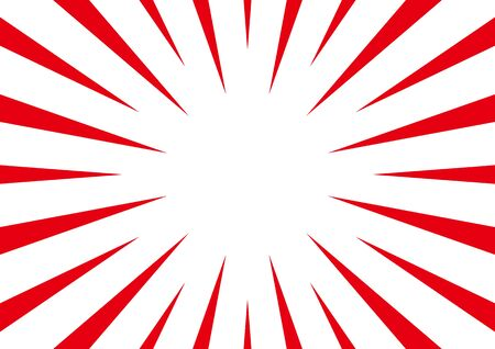 background of radial flash - red and white -