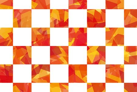 cellophane style plaid background of postcard aspect ratio  red and orange Illustration