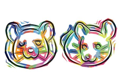 couple rats of cellophane style - colorful version -