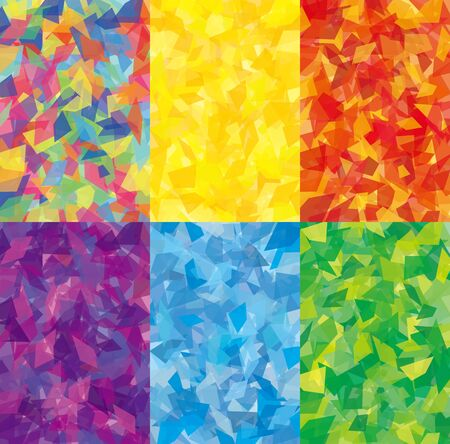cellophane style background set of six kinds