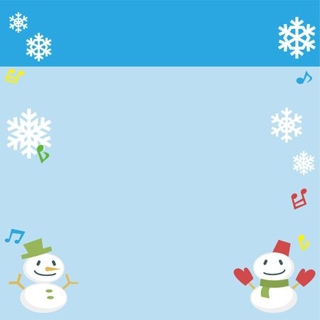 Featured Image of snowman and snow crystal - rectangle banner version -