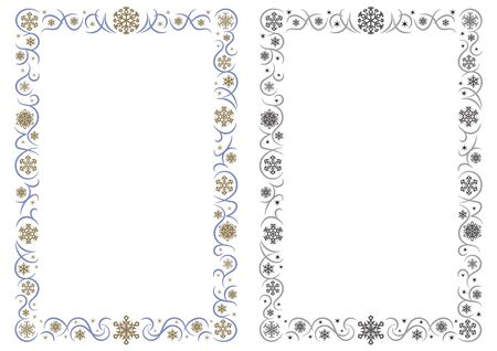 ornament rectangle frame of gorgeous snowy crystals - Portrait format -