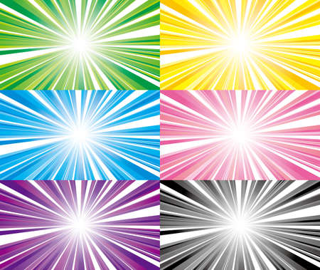 vector illustration of flash with gradation - Set of variations -