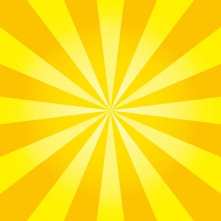 vector illustration of yellow and orange flash with gradation,square format Ilustracja