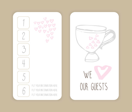 coffee discount card. template for your design