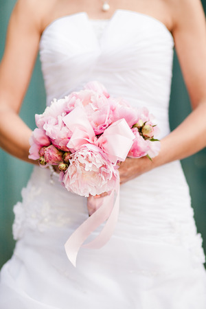 Bridal bouquet peonies