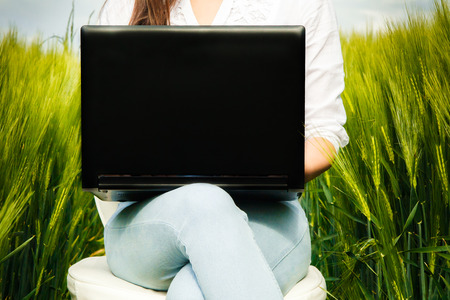 working woman: Business woman working outdoor