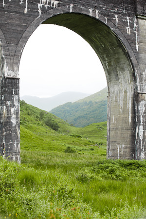 the jacobite: Glenfinnan, Scotland