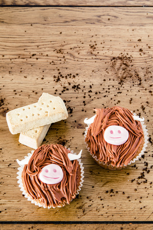 shortbread: Shortbread and cupcakes Stock Photo