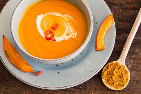 cocotier: soupe de potiron d'automne Banque d'images