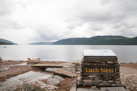loch ness: Tourist attraction Loch Ness Stock Photo