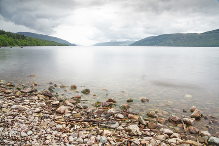 loch ness: Loch Ness shore Stock Photo