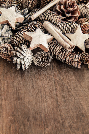 darkwood: Pinecone Christmas decoration on Darkwood