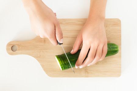 cutted: Cutted cucumber