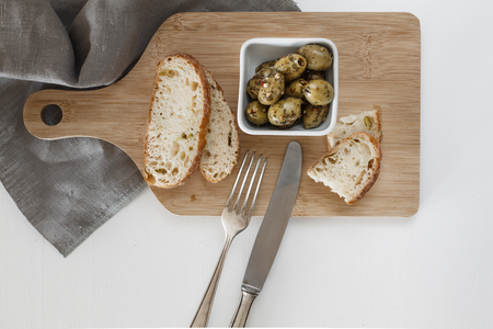 nutriments: Olives with herbs Stock Photo