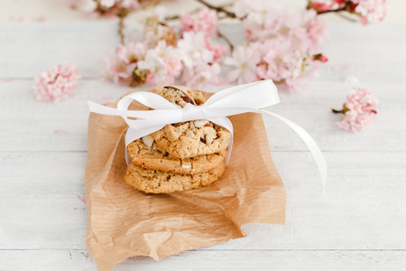 nutriment: Homemade almond cookies Stock Photo