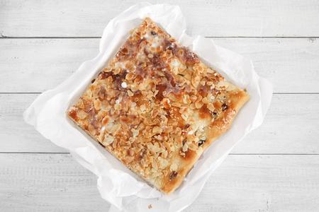 nutriments: Sweet almond cake Stock Photo