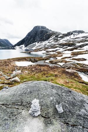 直立したノルウェーの風景 写真素材 - 82858650