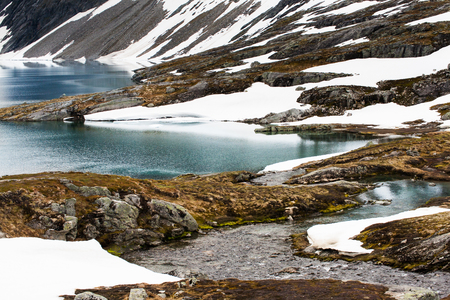 overburden: Glacier landscape