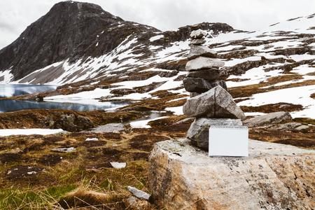 Norwegian landscape with copyspace