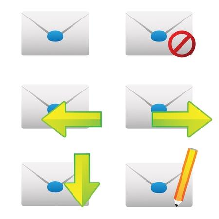 chatbox: mail set Illustration