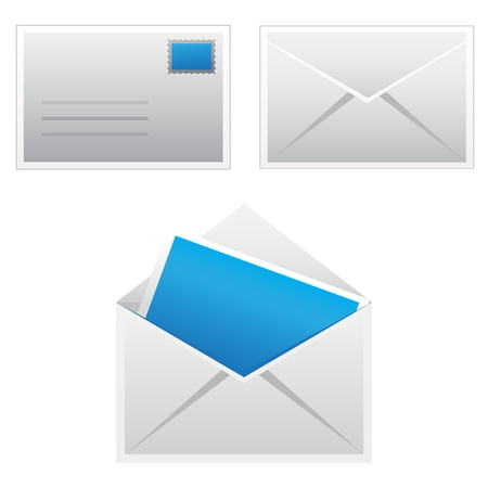 Set mail icon Vectores