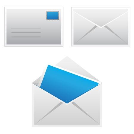chatbox: Set mail icon Illustration