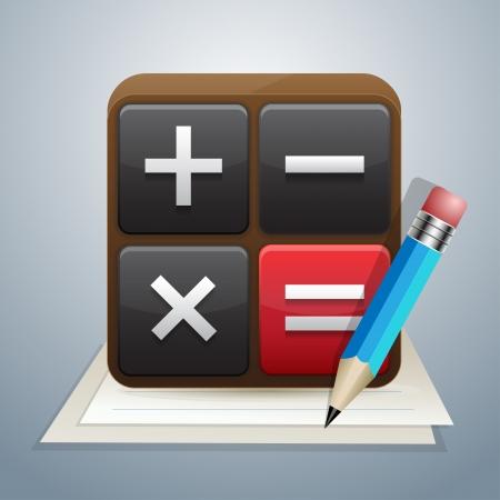 contabilidad financiera cuentas: Icono