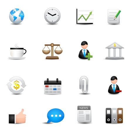 financial report: Icons set Illustration