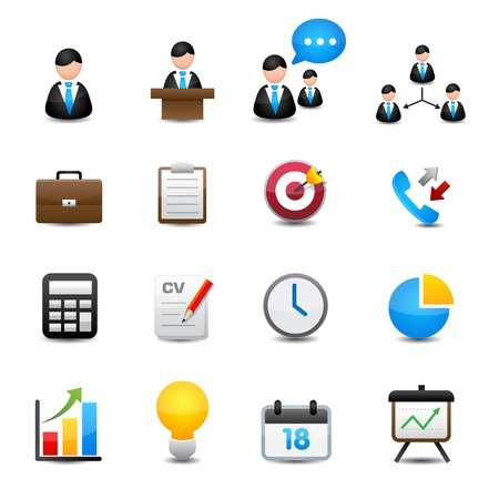 business partnership: Icons set
