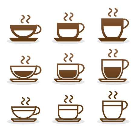 cup of coffee: Icons set