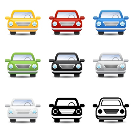 front wheel drive: car icon Illustration