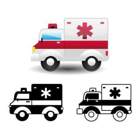 ambulance car: ambulance icon