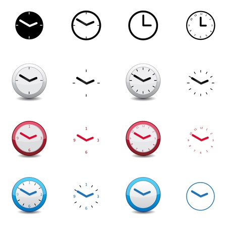 round face: clock icon