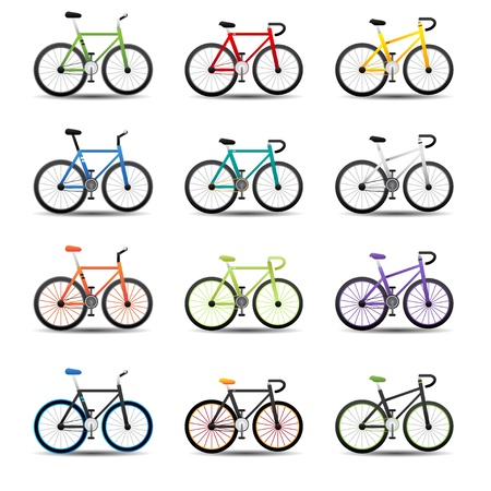 bicycle silhouette: bicycle icons