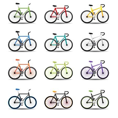 fahrradrennen: Fahrrad-Symbole Illustration