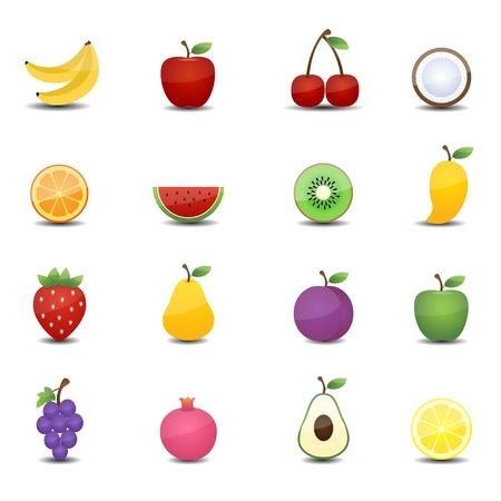 fruits icons Illustration