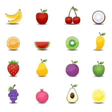 fruits icons Vectores