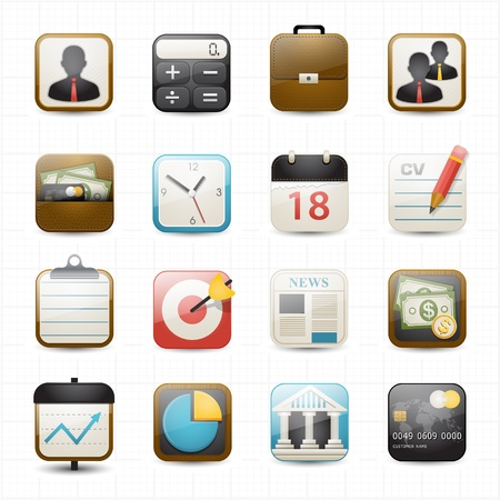 finance icons Ilustração