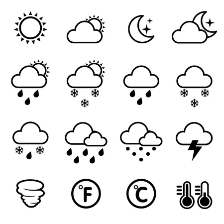 white clouds: wind icon Illustration