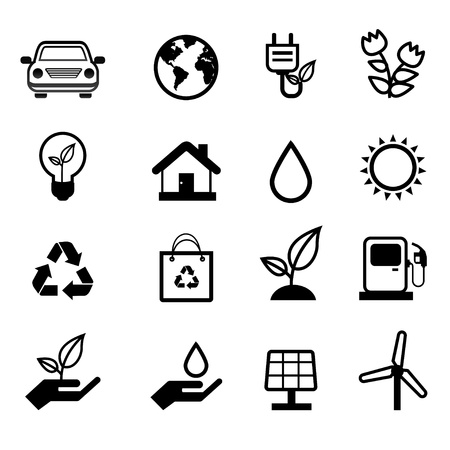 save the earth: environment icon Illustration