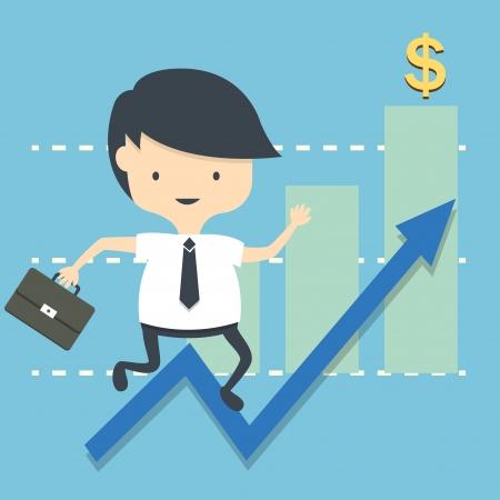 business man icon Illustration