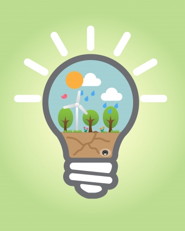 ahorro energia: Esta imagen es una ilustraci�n vectorial
