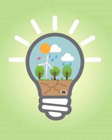 risparmio energetico: Questa immagine � una illustrazione vettoriale Vettoriali