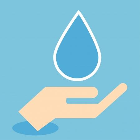 ahorrar agua: Icono del aire